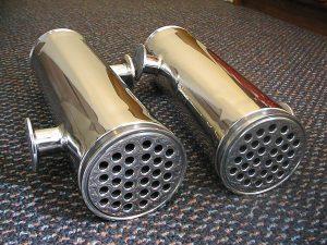Sanitary Shell &Tube Heat Exchangers, mirror polished finish