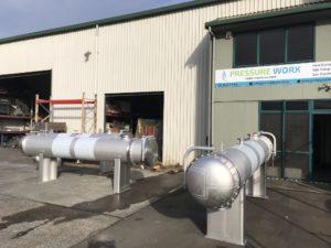 Thrust Bearing shell & tube heat exchanger