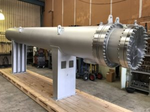 H2S Shell & Tube Heat Exchanger with internal steam jacket