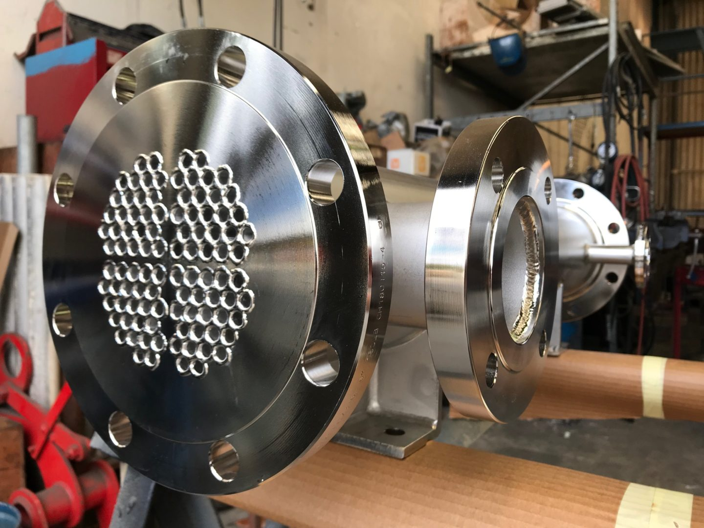 Floating tubeplate shell & tube heat exchanger for dairy, NZ PECPR